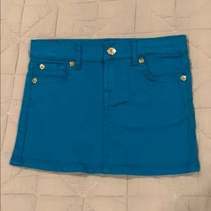 Authentic 7 for all Mankind teal blue denim skirt